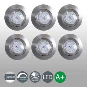 SPOTS - LIGNE DE SPOTS B.K. Licht lot de 6 spots LED encastrables ultra-p
