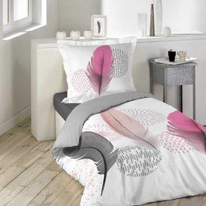 HOUSSE DE COUETTE SEULE Housse de couette 140x200 Pink Dream 100% coton Gr