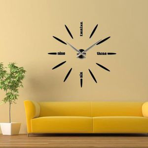 HORLOGE - PENDULE TEMPSA Horloge Murale Design Moderne DIY 3D Sticke