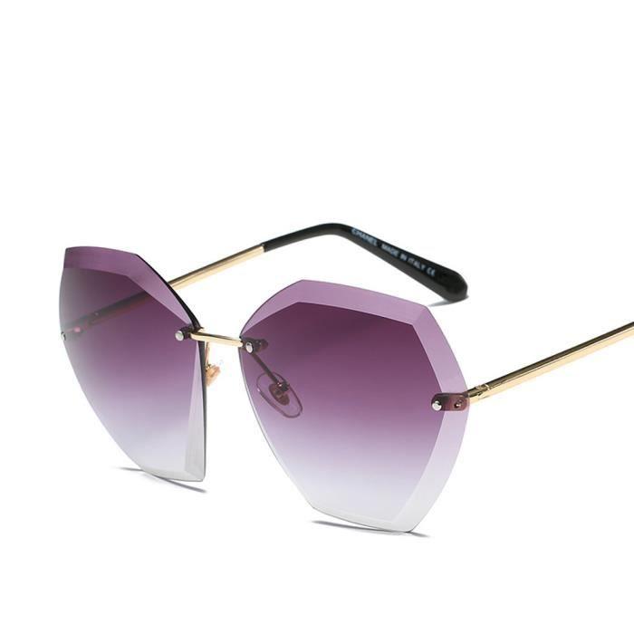 An-957Femmes Hommes Summer Retro Vintage place dégradé de couleur unisexe lunettes de mode Avi violet