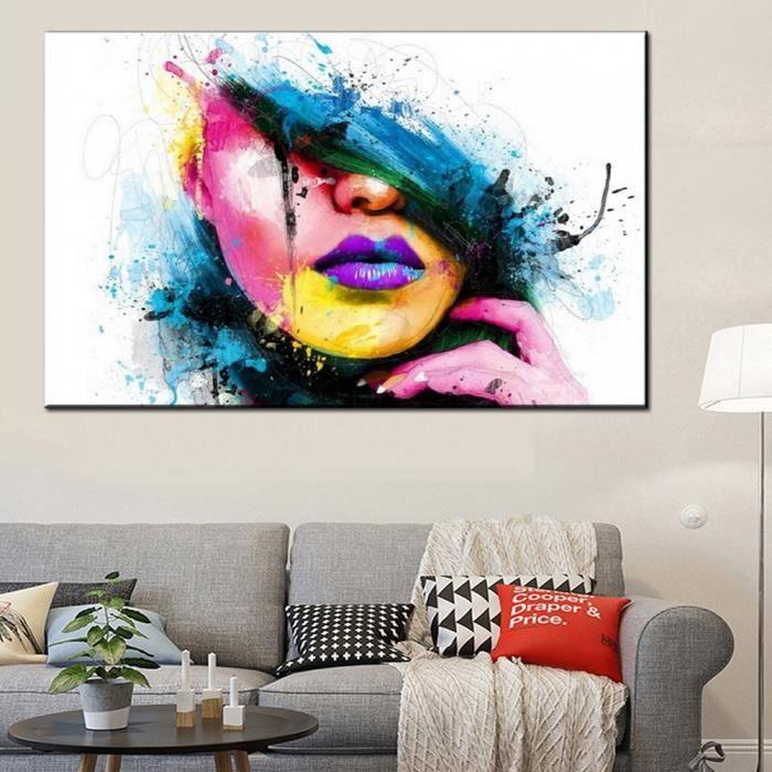 dessin d 39 ornement tableau decoration peinture l 39 huile sur toile d 39 art moderne sans encadrement. Black Bedroom Furniture Sets. Home Design Ideas