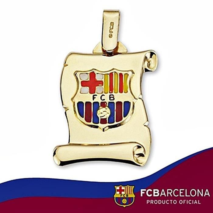 Parchemin écusson FC Barcelona or massif 18k grande taille émail ... 0ab24e86511