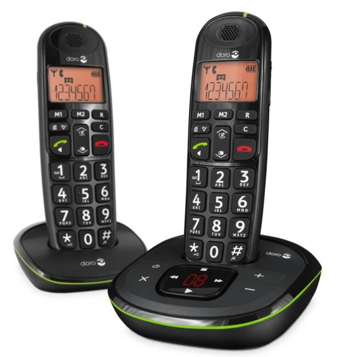 doro phone easy 105 wr duo achat t l phone fixe pas cher. Black Bedroom Furniture Sets. Home Design Ideas