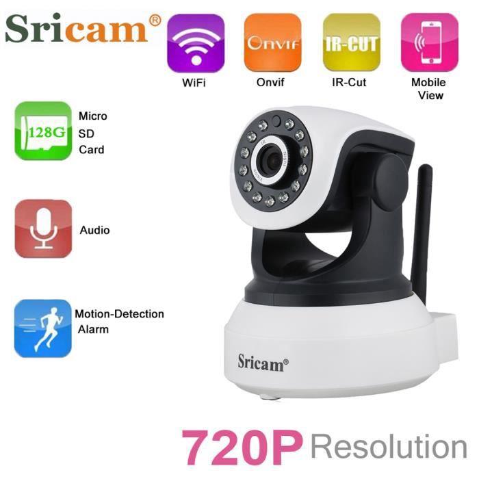 CAMÉRA IP FLOUREON Caméras de Surveillance IR LED IP HD 720p
