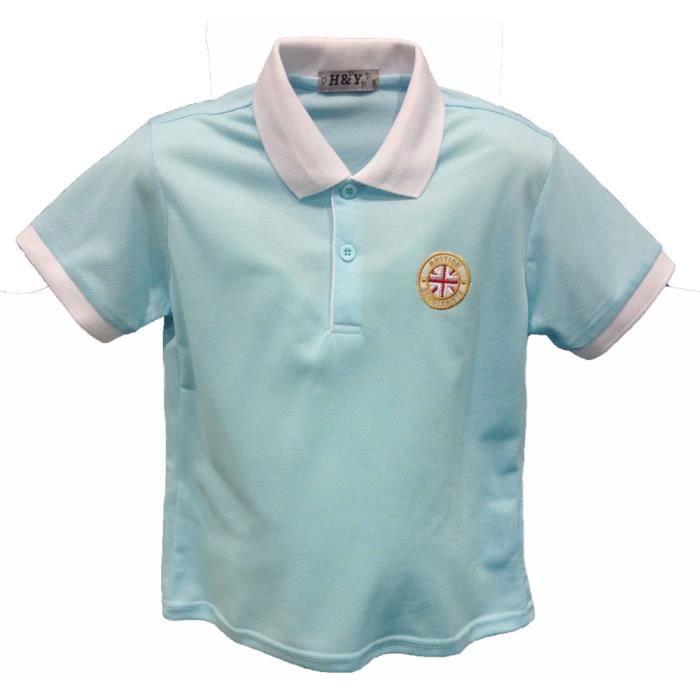 Polo Homme Rayures Tricolores Pur Coton Manche Courte Col Roulé Tee-Shirt Style Classique/Élégant 1WLL9cwfbh
