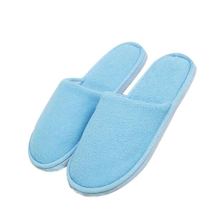 Chaussure Homme Hiver Meilleure Qualité Mode Classique Chaud Intérieur Étage Pantoufles Cotton Slipper Ultra Confortable bleu 45 STSnWnBA