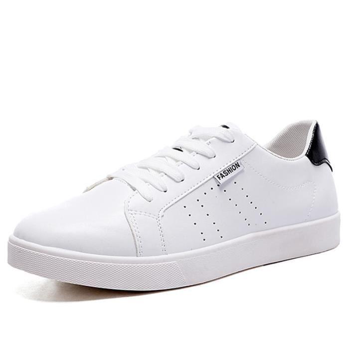 Chaussures De Sport Pour Hommes En Cuir Basket Casual DTG-XZ128Noir43