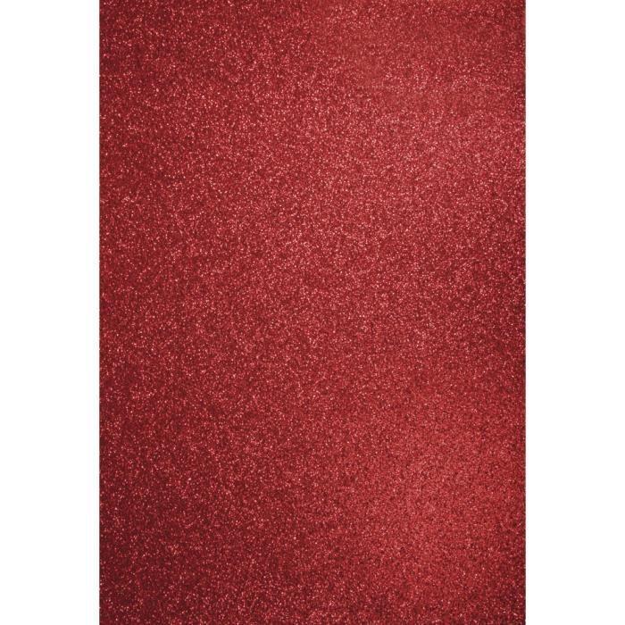 papier cartonn paillet a4 rouge cardinal achat vente feuille d copatch papier. Black Bedroom Furniture Sets. Home Design Ideas