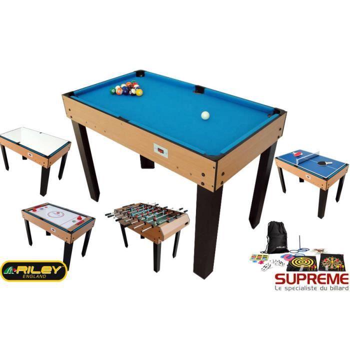 billard multi jeux 21 en 1 bois achat vente table multi jeux cdiscount. Black Bedroom Furniture Sets. Home Design Ideas