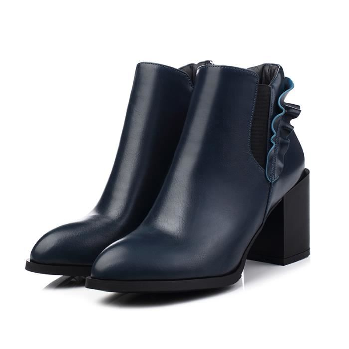 2016 Spring Angleterre cuir plat simples bottes...
