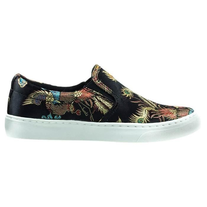 If13 Classic Elastic Panel Slip On Stitched Fashion Sneaker R11Q0 Taille-41