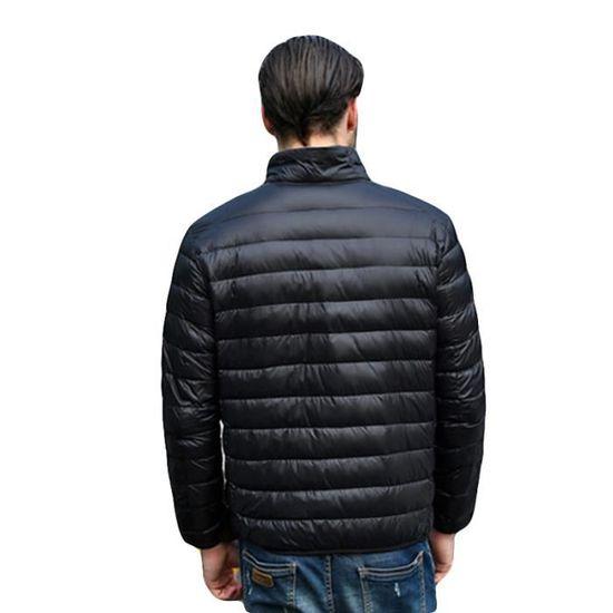 ... Hommes Doudoune Vêtement Col Marque Homme Slim Noir De Légère Couleur  Unie Standup Tq6C0xrqw ... 73922d6cc80