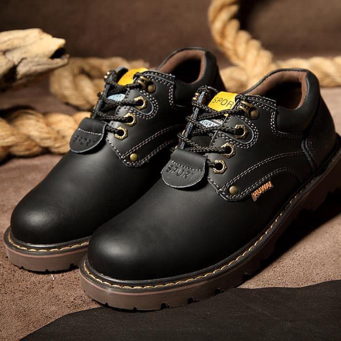 Chaussures Homme Cuir Confortable mode Homme chaussure de ville BJXG-XZ209Noir42