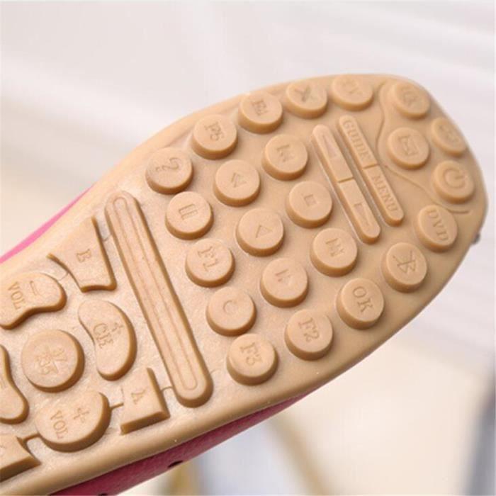 Mocassin Femme Cuir Occasionnelles Leger Chaussure BCHT-XZ044Jaune35