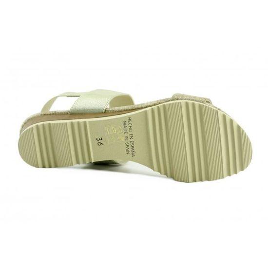 Janelle – Sandale élastiqué chaussures femme nu-pied marques Angelina fabriqué Espagne cuir lézard argent 5UWVh5j
