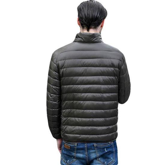 Hommes Doudoune Vêtement Col Marque Homme Slim Noir De Légère Couleur Unie  Standup Tq6C0xrqw d8df1ec4122