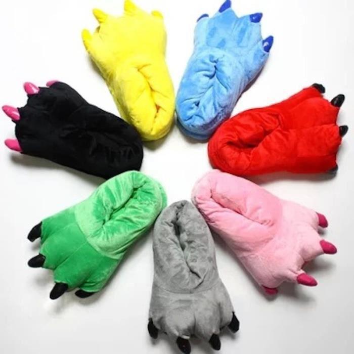 Chaussons Pantoufles Homme/Femme pour Adultes Chaussures D'hiver Chaudes, 40-44 (Vert)