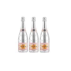 CHAMPAGNE Lot de 3 Champagnes Veuve Clicquot Rich Rosé 75cL
