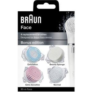 BROSSE DE RECHANGE Lot de 4 Brosses de Remplacement - Braun Face 80-m