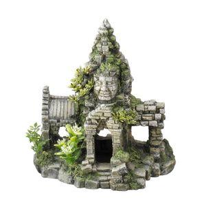 DÉCO ARTIFICIELLE AQUA DELLA Décor Angkor Wat - 24x16,7x24,5cm - Pou