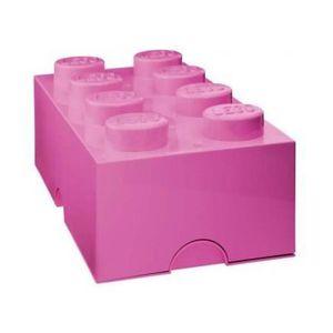 PIÈCE MONDE MINI LEGO BOITE DE RANGEMENT 8 PLOTS ROSE - BRIQUE D...