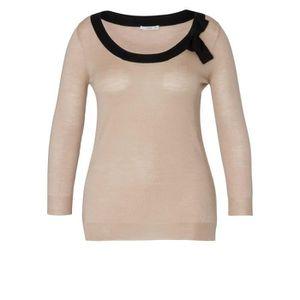 b76ae351c3d6 PRADA Pull en tricot fin avec soie Sable - Achat   Vente pull ...