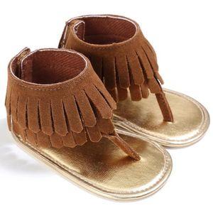 Frankmall®Fille Bordées berceau chaussures douce semelle anti-dérapants Sandales bébé Sneakers MARRON#WQQ0926195 OojBP