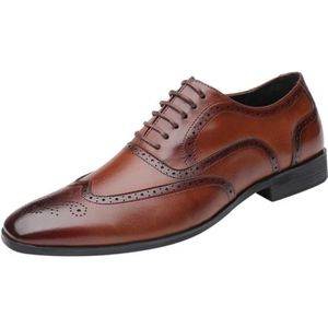 DERBY Mode pour hommes Casual Toe Oxford Chaussures Poin
