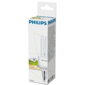 AMPOULE - LED Ampoule fluocompacte E14 8 Watts PHILIPS