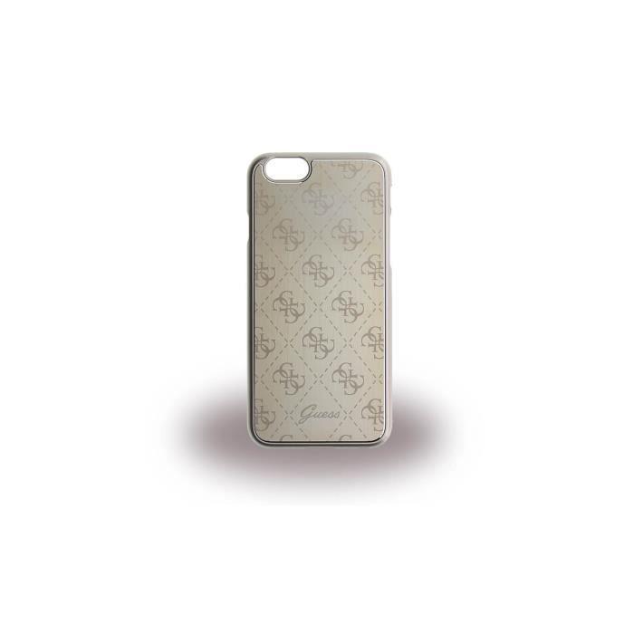 GUESS Coque rigide en aluminium - Pour iPhone 6 / 6S - Dorée