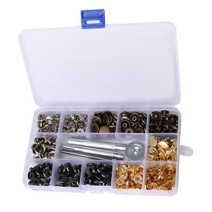 c17977b179be 80 Set Boutons pression Snaps bouton Goujons presse avec 4 pièces de  fixation d outils LSM80302653