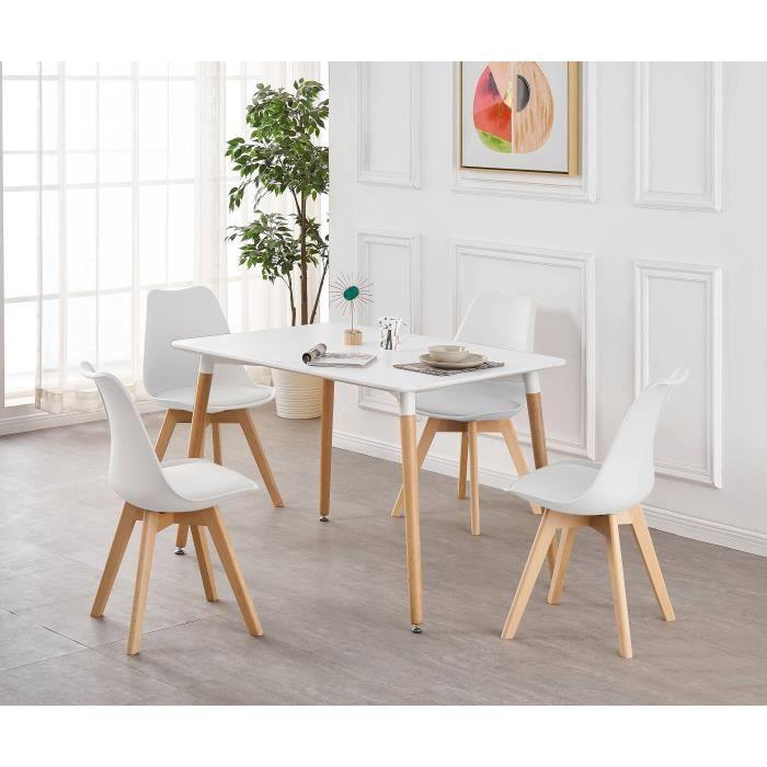 Salle A Manger Lorenzo Ensemble Complete Table Et 4 Chaise De