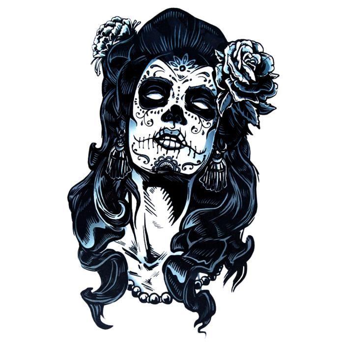 Tatouage faux tete de mort , La belle mexicaine