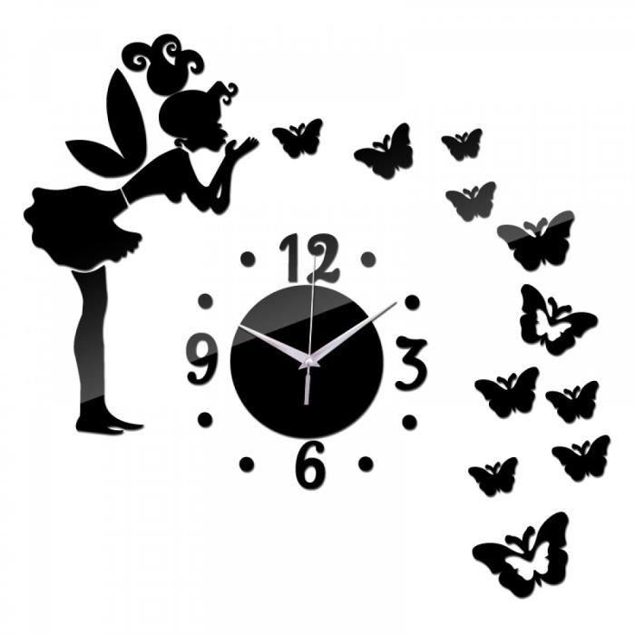 Acrylique Sticker Adhésifs Muraux   Miroir Autocollants Maison Decoration  Horloge Murale Po Affiche L'Europe