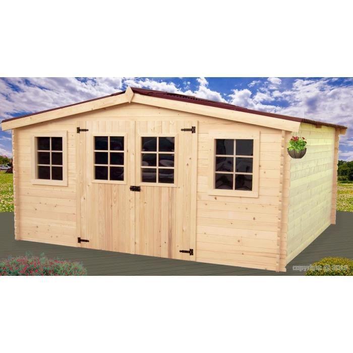 Abri de jardin en bois 13 m2 - Achat / Vente abri jardin - chalet ...