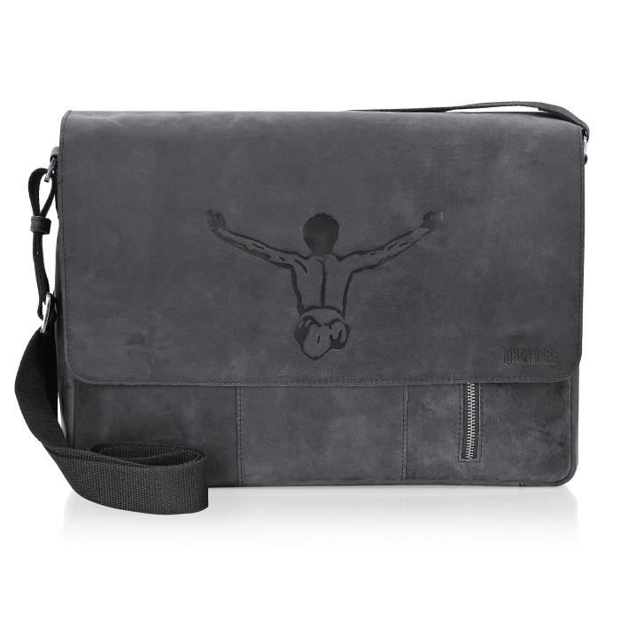Chiemsee Valencia Messenger Vintage Sac en cuir 40 cm de compartiment pour ordinateur portable 1SIS9G