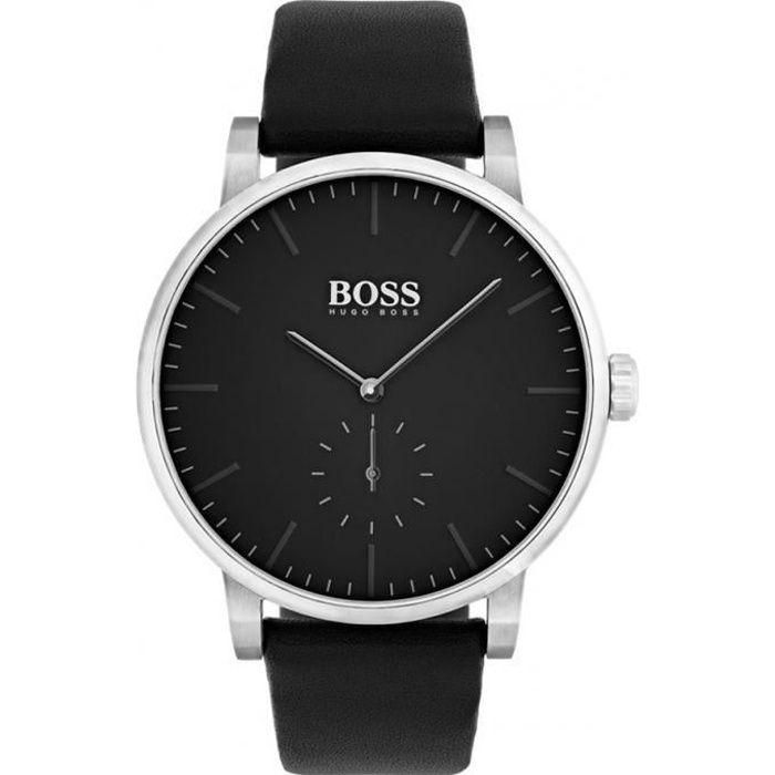 99e2be4d7bd83 Montre hugo boss 1513500 - montre cuir cadran noir homme - Achat ...