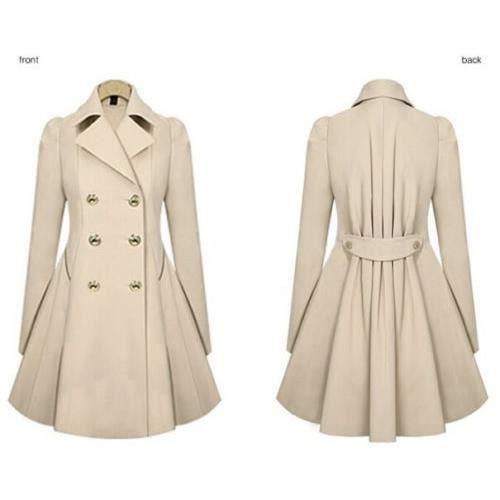 Long Manteau Hiver Revers Mesdames bleu Chaud Femmes beige Noir vwIXq6UU