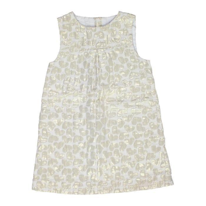7001e7a057156 Robe enfant fille KIABI 4 ans blanc hiver - vêtement bébé  1053330 ...