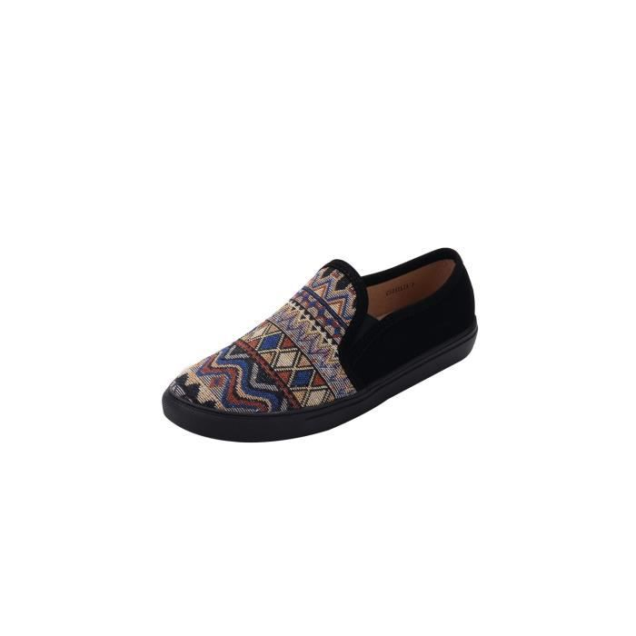 Women' S Leather Loafers Casual Moccasin Driving Outdoor Shoes Indoor Flat Slip-on Slippers PUQUB Taille-39 FR6guy5i