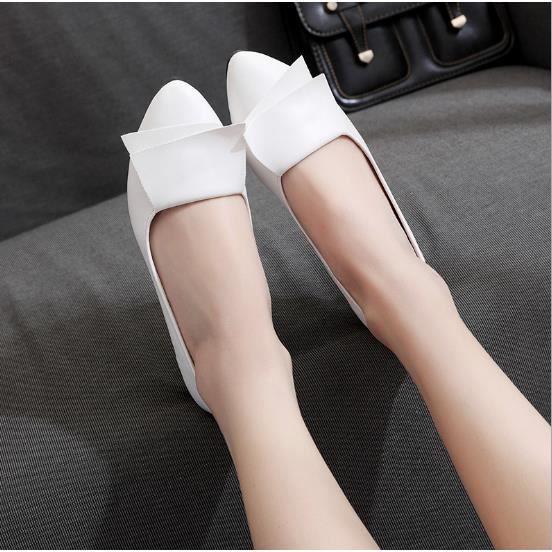 Chaussure Femmes Printemps Été Comfortable Faible Talon Chaussures YLG-XZ069Blanc36