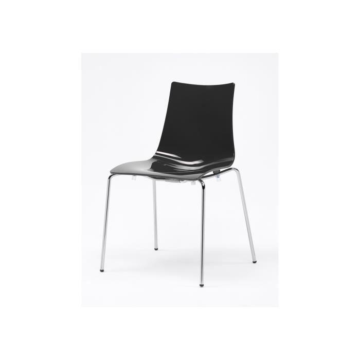 Chaise Design Zebra Par Scab Design Noir Achat Vente Chaise