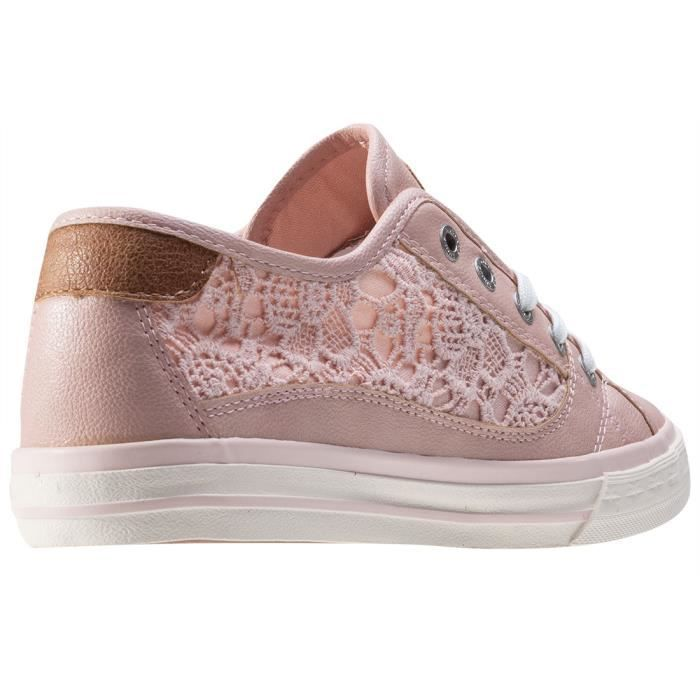 Mustang Low Top With Emroidery Femmes Baskets Rose - 39 EU