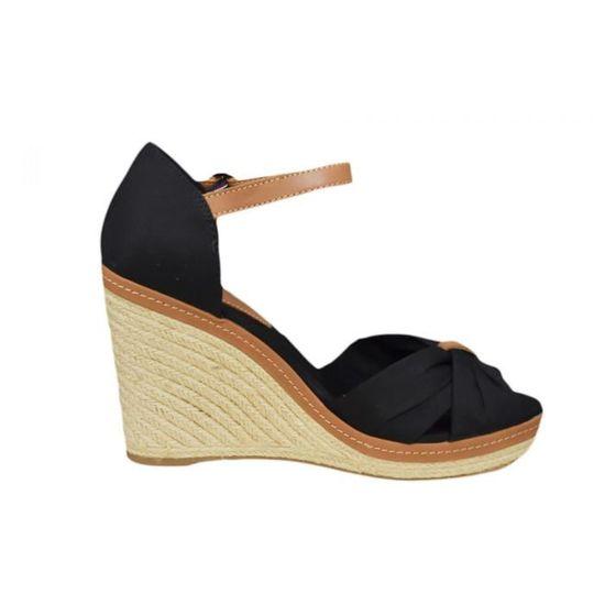 307f67ee500aa Espadrilles compensées Tommy Hilfiger Elena noire pour femme - Couleur  Noir  - Taille  41 Noir Noir - Achat   Vente sandale - nu-pieds - Soldes  dès le  9 ...