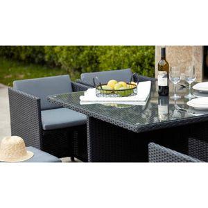 Table salon de jardin carre achat vente table salon de for Salon de ja