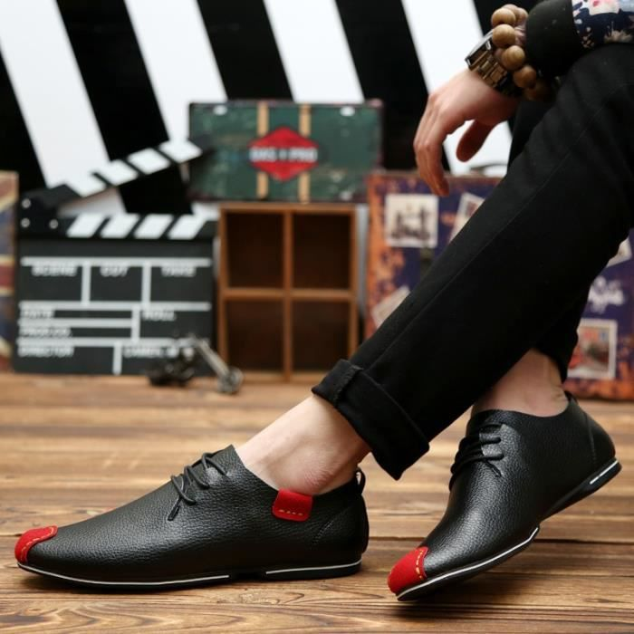 cuir Oxford Hommes Driving Hommes véritable Souliers Chaussures Mocassins Flats Chaussures simple en Chaussures Ashion homme Flats qF0ASTxx