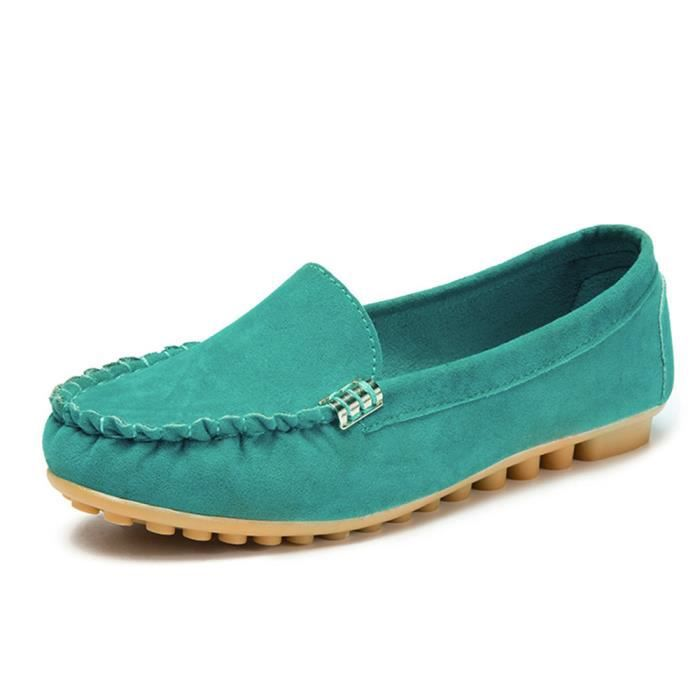 Comfy Femmes Benjanies Chaussures Bateau Ballerines Casual vert Souple Ladies Slip on qSC5vWAB