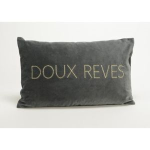 COUSSIN Coussin velours lux anthracite 30x50