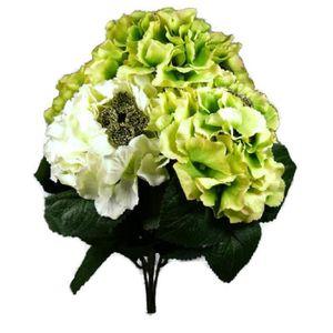 Hortensia artificiel blanc achat vente hortensia for Bouquet pas cher livraison gratuite