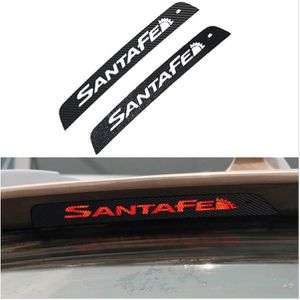 Car Styling For HYUNDAI IX45 All New SANTAFE Carbon Fiber Rear Brake Light Stickers Personality Additional